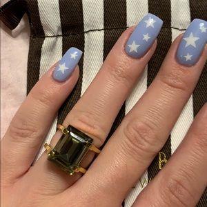Henri Bendel Grey Crystal Ring